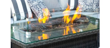 Ceramic Logs and Lava for Rectangle Firepit