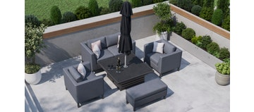 Birkin 11F - Sofa Set With Rising Table And Bench
