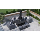 Birkin 11G - Sofa Set with Rising Table and Footstools