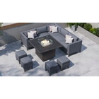 Birkin 1G - Corner Sofa with Gas Fire Pit Dining Table