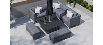 Birkin 1K - Corner Sofa With Square Rising Table And Benches