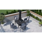 Birkin 4S - 4 Seat Dining with Ceramic Glass Top Table