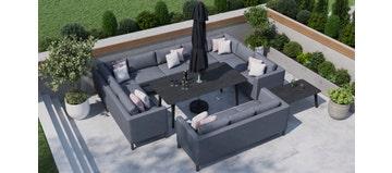Birkin 5F - U Shaped Sofa Combo With Dining Table & Sofa