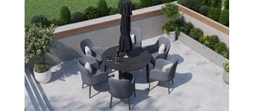 Birkin 6R - 6 Seat Dining with Ceramic Glass Top Table