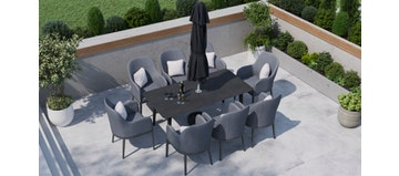 Birkin 8S - 8 Seat Dining with Ceramic Glass Top Table