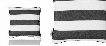SCATTER CUSHION - GREY STRIPED
