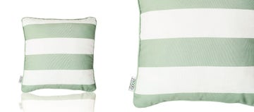 SCATTER CUSHION - STRIPED GREEN