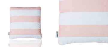 SCATTER CUSHION - STRIPED BLUSH PINK
