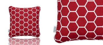 SCATTER CUSHION - CHERRY RED