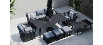 Salone 10F - 8 Seat Sofa Set And Dining Combo