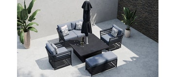 Salone 11F - Sofa Set with Rising Table and Bench