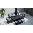 Salone 11G - Sofa Set with Rising Table and Footstools