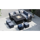 Salone 1G - Corner Sofa with Gas Fire Pit Dining Table