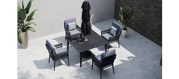 Salone 4S - 4 Seat Dining with Ceramic Glass Top Table