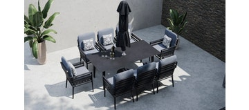 Salone 8S - 8 Seat Dining with Ceramic Glass Top Table