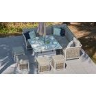 Sky 12 Corner Sofa & Rising Dining Table Combo