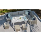 Sky 4 Corner Sofa & Dining Table Combo