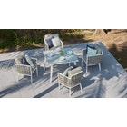 Sky 4-Seat Dining Set with Glass Table