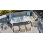 Sky 5 Corner Sofa & Dining Table Combo