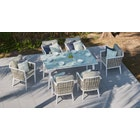 Sky 6-Seat Dining Set with Glass Table