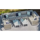 Sky 7 U-Shaped Sofa & Coffee Table Combo
