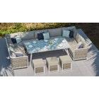 Sky 8 U-Shaped Sofa & Dining Table Combo