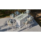 Sky Gas Fire Pit Bar Set with 6 Stools