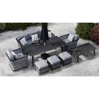 Talia 10F - 8 Seat Sofa Set and Dining Combo