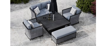 Talia 11F - Sofa Set With Rising Table And Bench