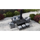 Talia 11G - Sofa Set with Rising Table and Footstools