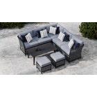 Talia 1B - Corner Sofa with Coffee Table and Footstools