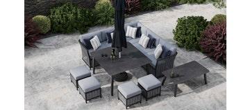 Talia 1D - Corner Sofa With Dining Table