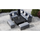 Talia 1K - Corner Sofa with Square Rising Table and Benches