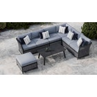 Talia 2A - Extended Corner Sofa with Coffee Table and Pouf