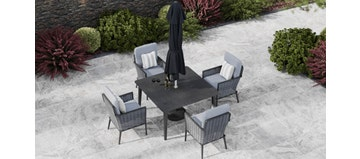 Talia 4S - 4 Seat Dining with Ceramic Glass Top Table