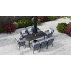 Talia 8S - 8 Seat Dining Set with Parasol