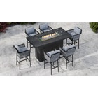 Talia Bar Table 6G - 6 Seat Bar Table with Gas Fire Pit